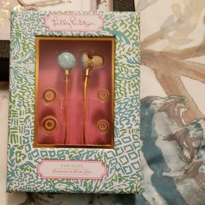 New Lilly Pulitzer Earbuds Tropical Turquoise